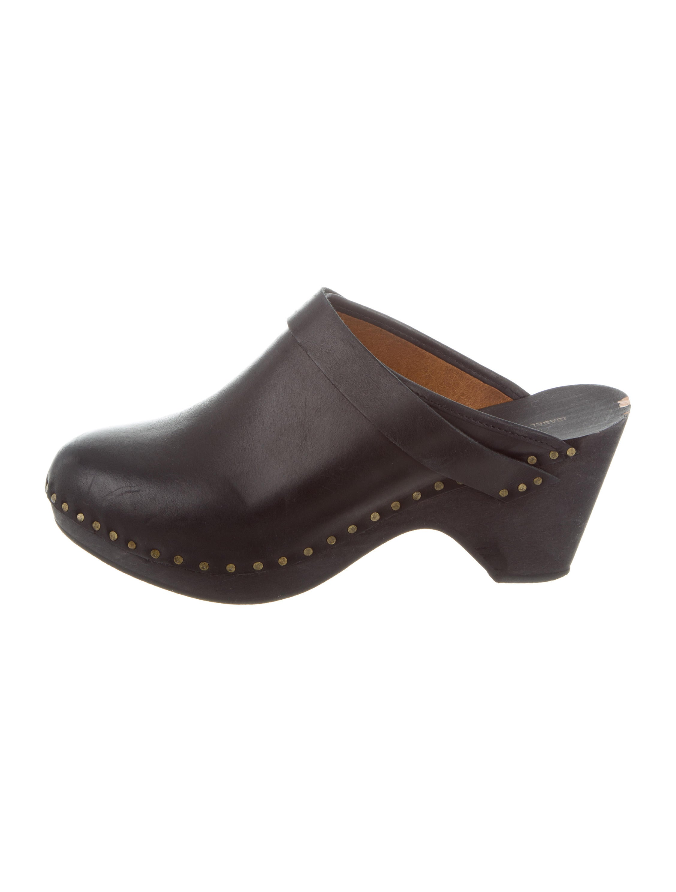 very cheap cheap online sale 2015 new Isabel Marant Leather Round-Toe Clogs professional cheap price free shipping cheapest price outlet original 3y37kZ5