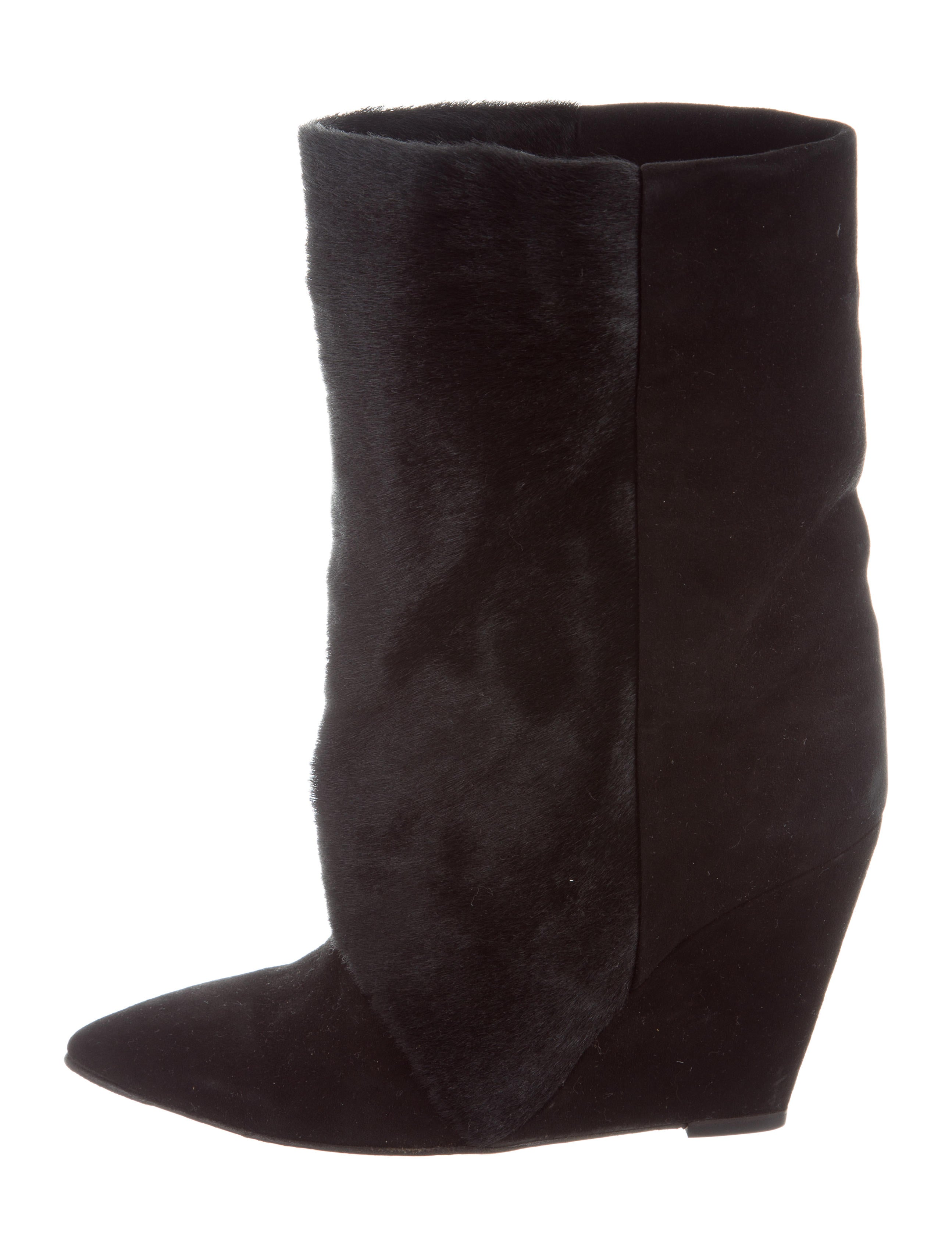 classic cheap online Isabel Marant Ponyhair & Suede Wedge Boots genuine cheap price outlet enjoy TJHkfTm2Zs