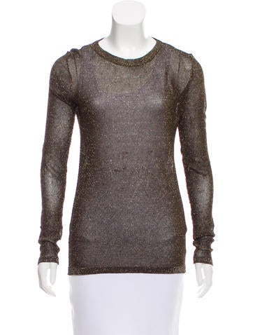 Isabel Marant Metallic Open Knit Top None