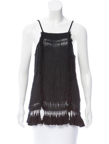 Isabel Marant Sleeveless Open-Knit Top None