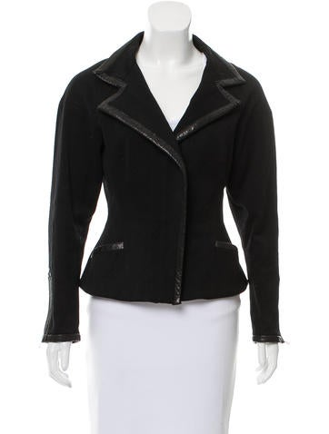 Lightweight Leather-Trimmed Jacket
