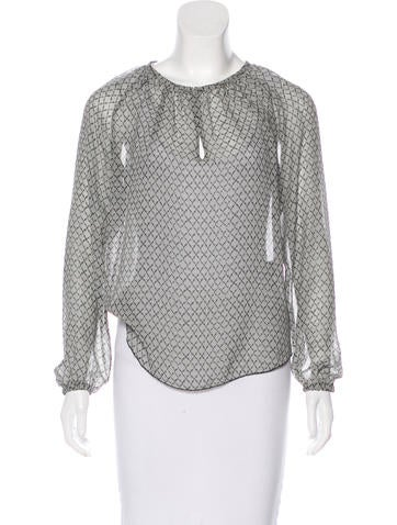 Isabel Marant Printed Silk Blouse None