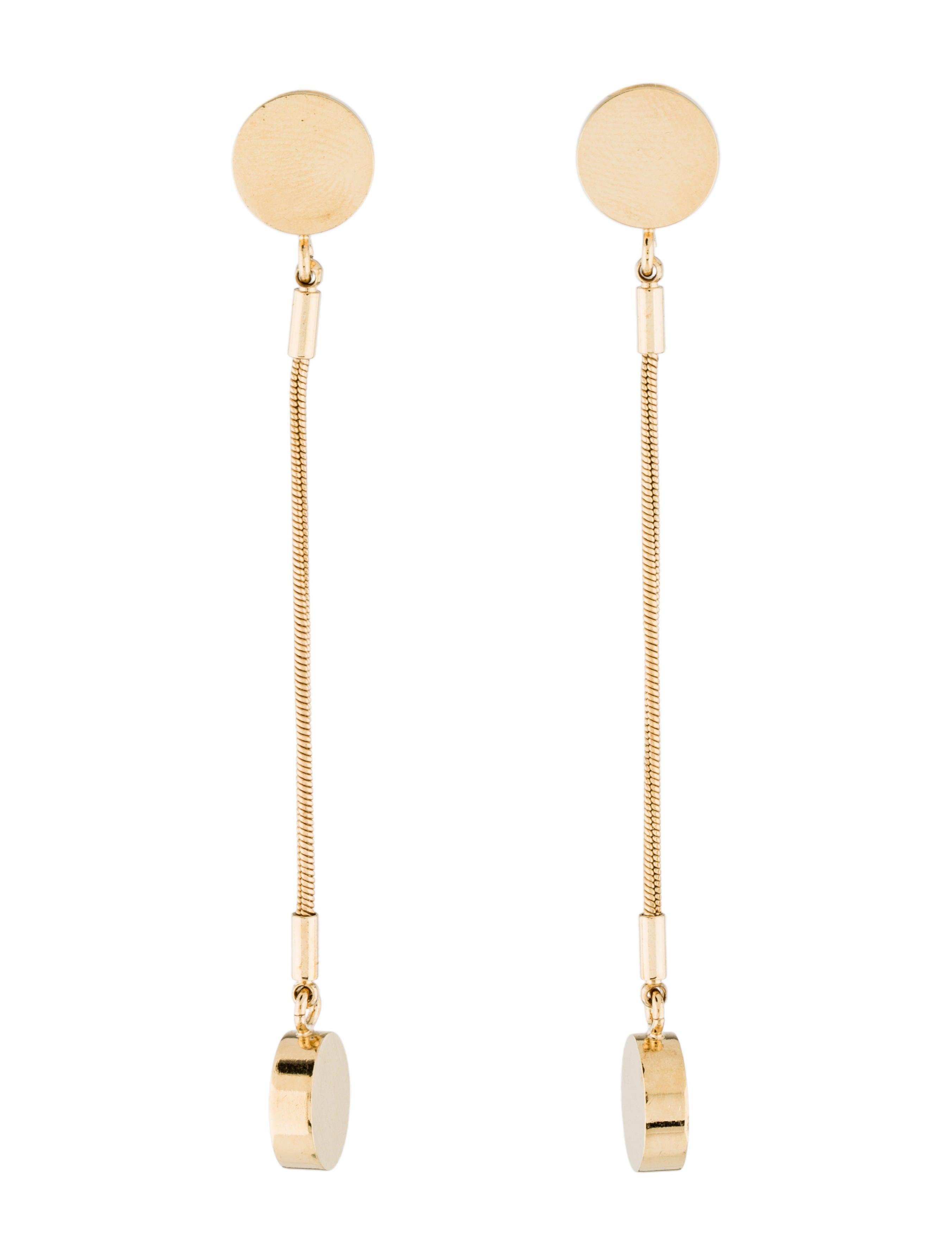 Isabel Marant Gold Long Boo Boo Earrings Z1Hoilw3X
