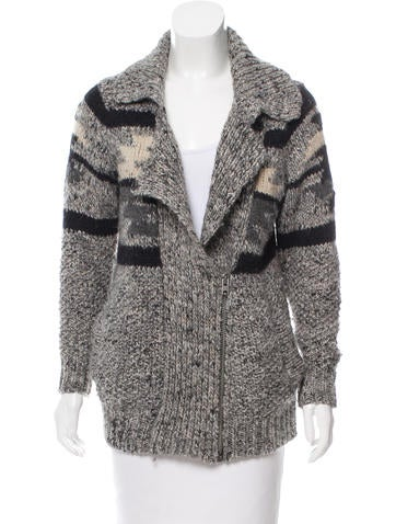 Isabel Marant Rib Knit Patterned Cardigan None