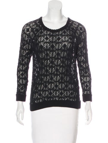 Isabel Marant Lace Long Sleeve Top None