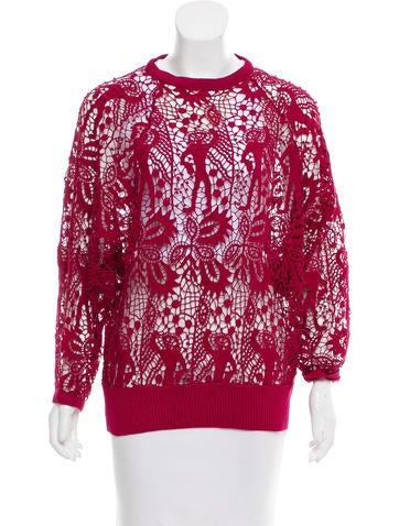 Isabel Marant Long Sleeve Crochet Top None