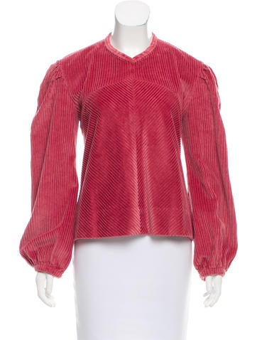 Isabel Marant Ribbed Textured Top None