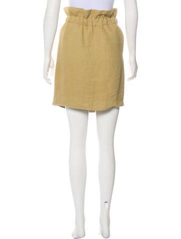 Knee-Length Linen-Blend Skirt