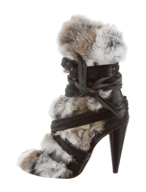 152c0a6aba6 Isabel Marant Fur-Trimmed Pietra Ankle Boots - Shoes - ISA52658 ...