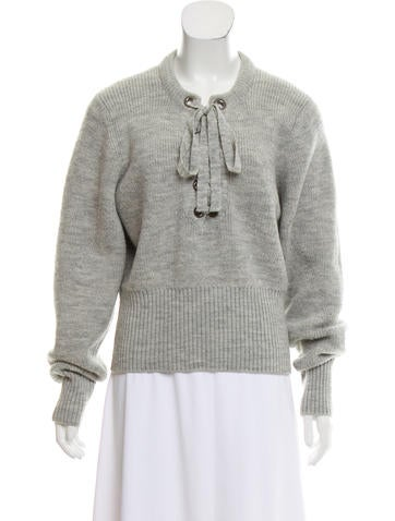 Isabel Marant Lace-Up Wool Sweater None
