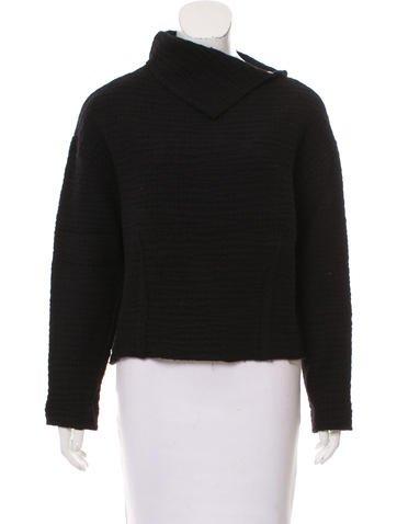 Isabel Marant Turtleneck Rib Knit Sweater None