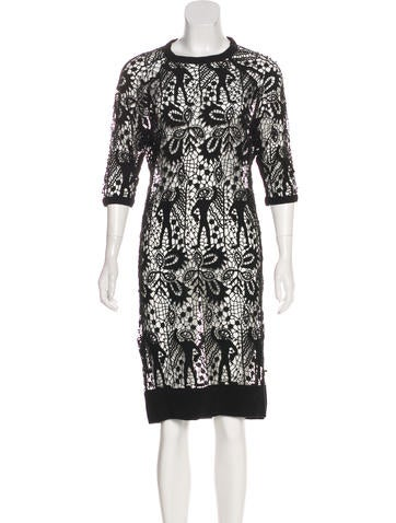 Isabel Marant Guipure Lace Knee-Length Dress None