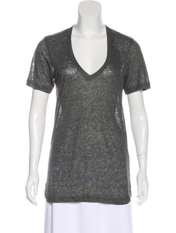 Isabel Marant Linen Short Sleeve T-Shirt w/ Tags None