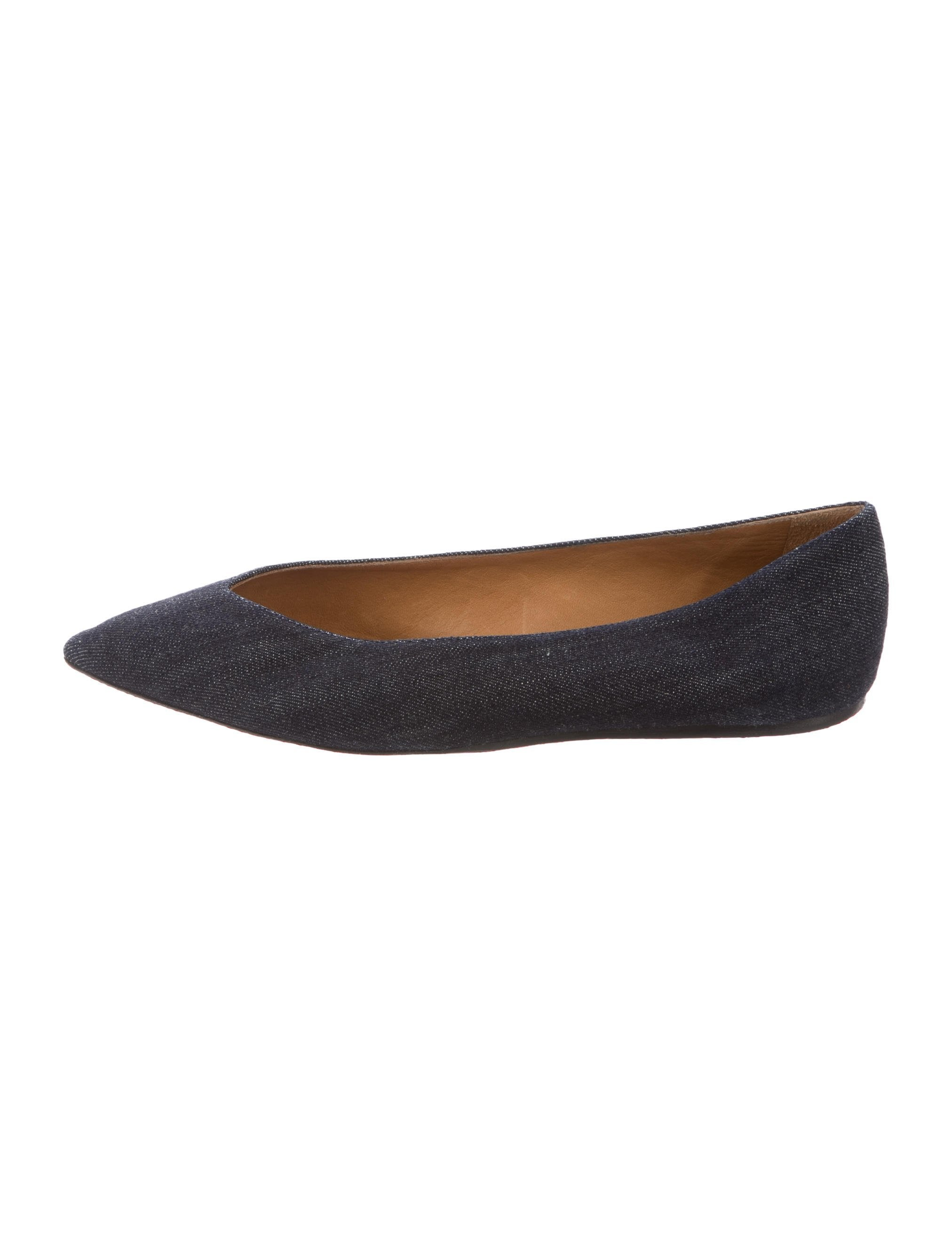 Isabel Marant Denim Pointed-Toe Flats