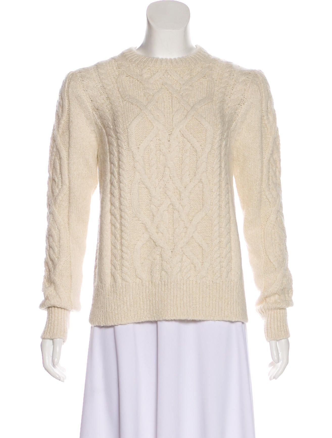 1fa97bb760c3 Isabel Marant Baby Alpaca Cable Knit Sweater - Clothing - ISA61435 ...
