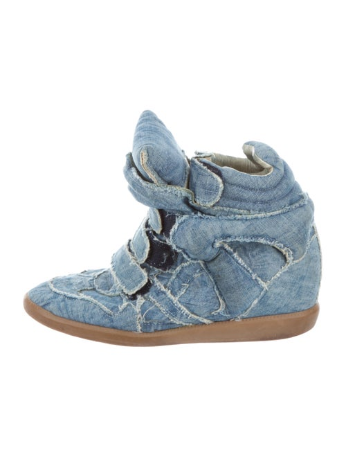 9bac6b704d Isabel Marant Beckett Denim Wedge Sneakers - Shoes - ISA61783   The ...