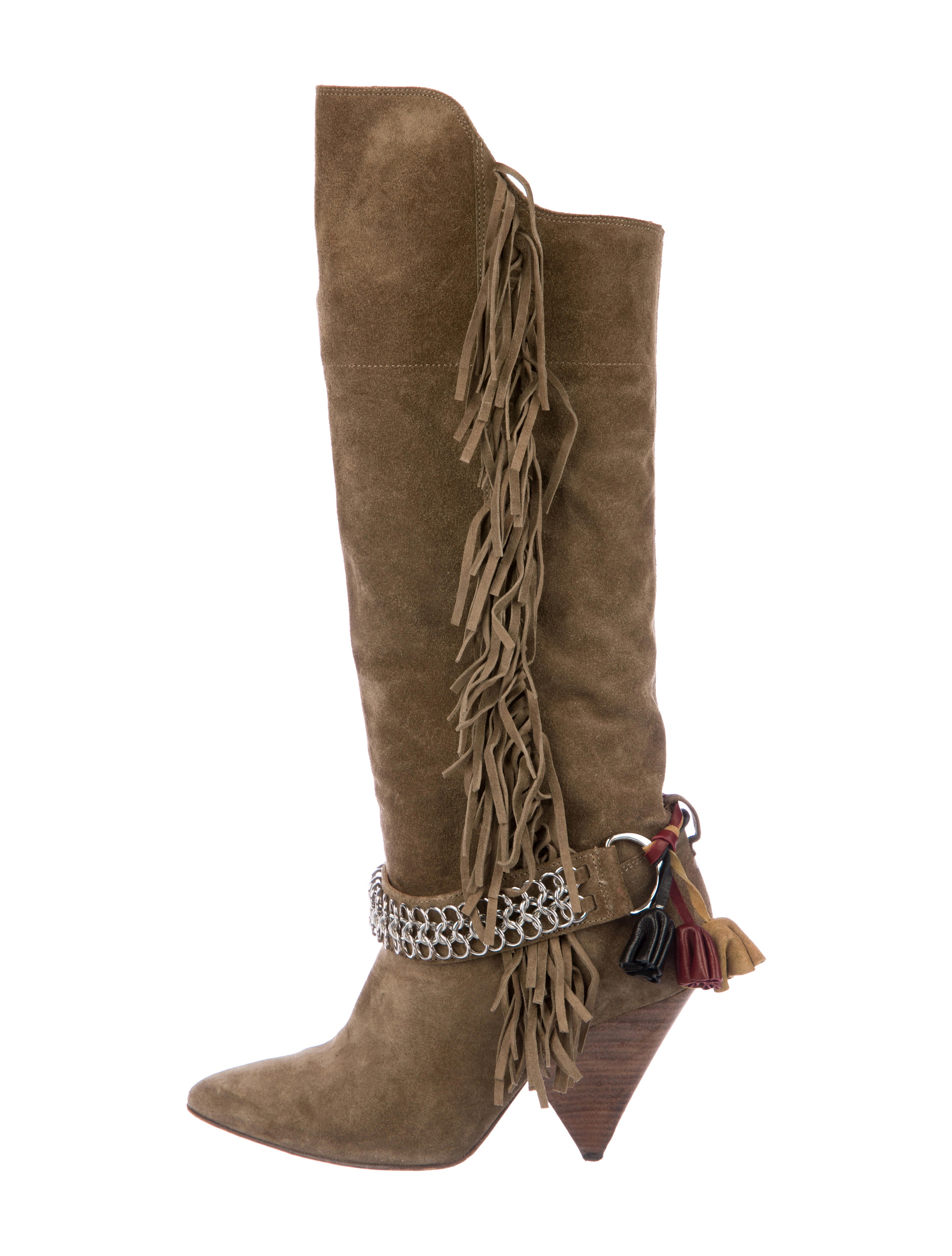07e8a8a2abb4 Isabel Marant Suede Knee-High Boots - Shoes - ISA68994