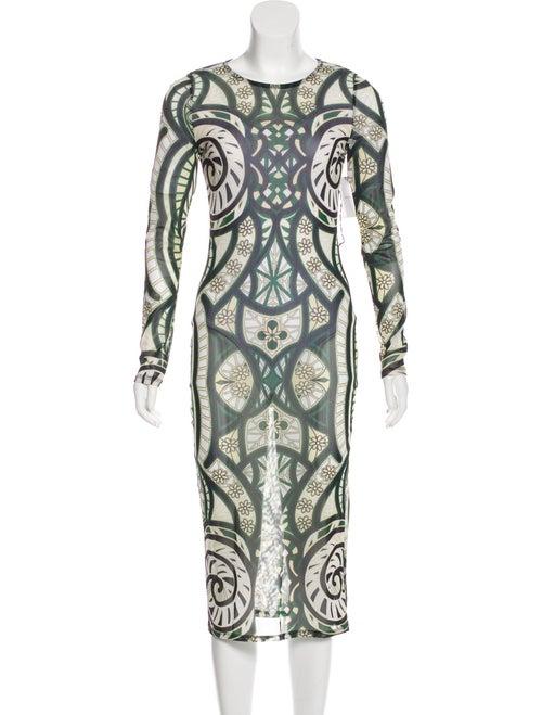 Isabel Marant Knit Midi Dress Green