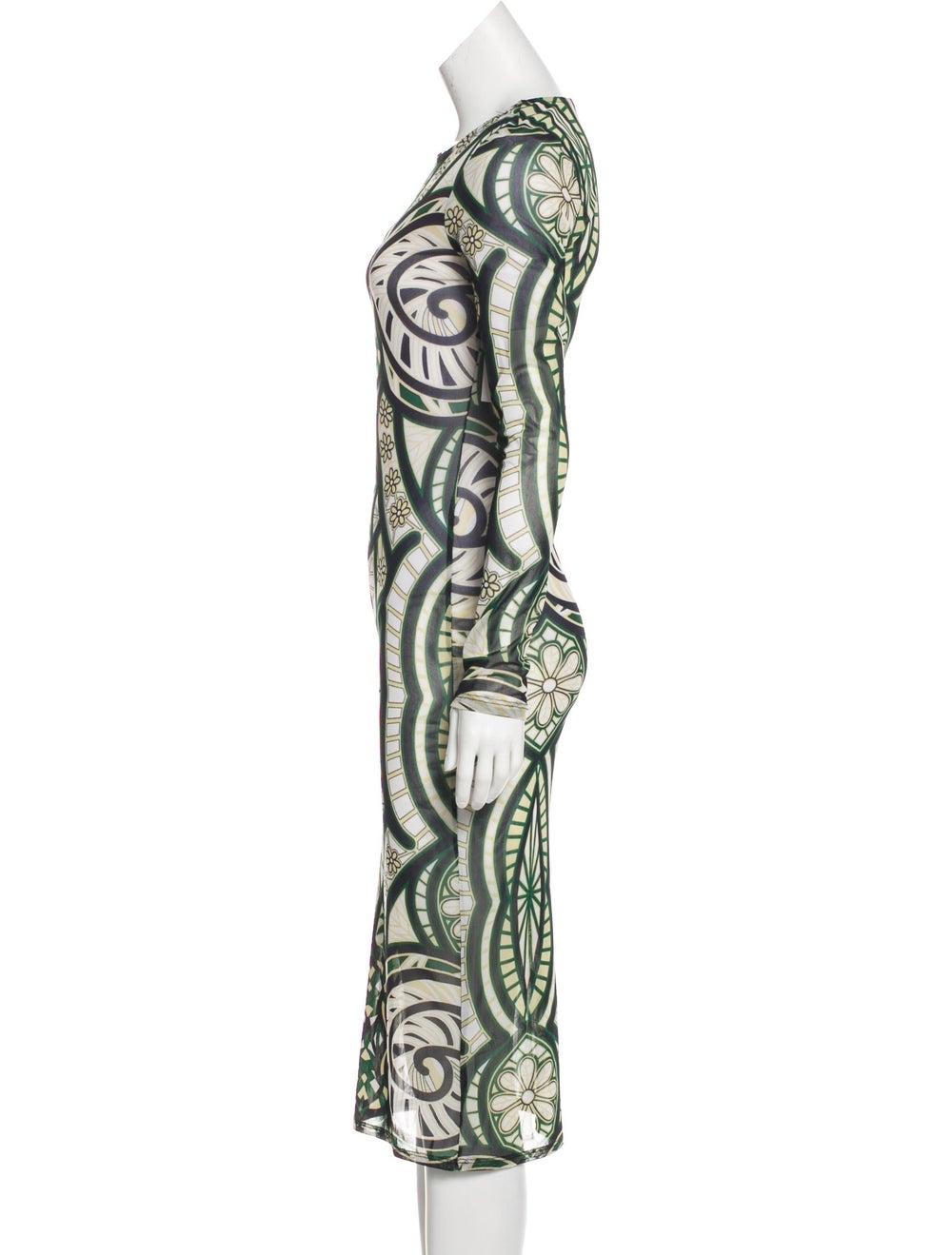 Isabel Marant Knit Midi Dress Green - image 2