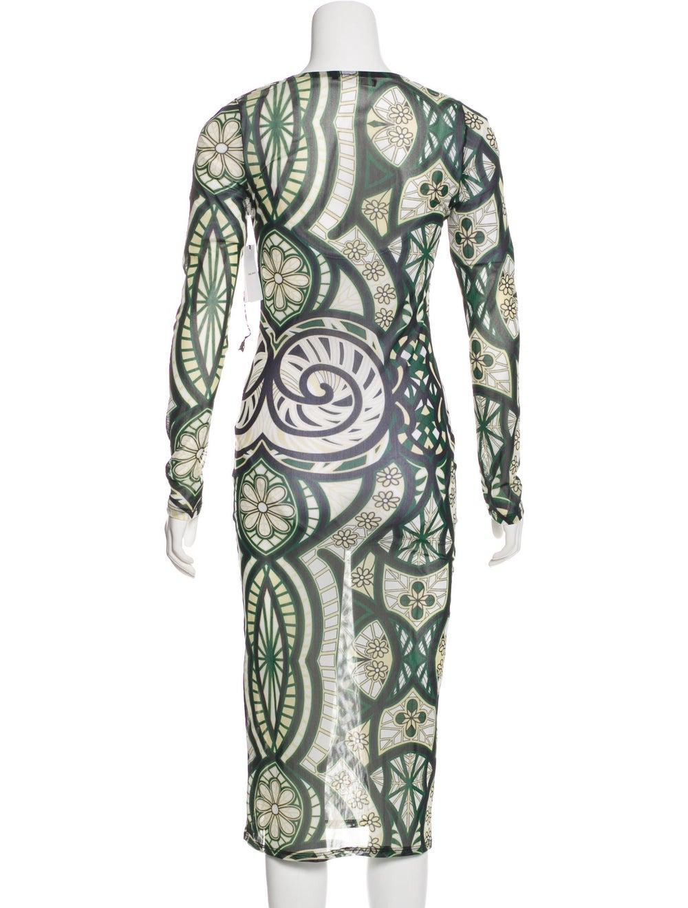 Isabel Marant Knit Midi Dress Green - image 3