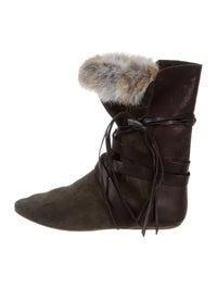 Nia Rabbit Fur Boots image 1
