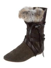 Nia Rabbit Fur Boots image 2