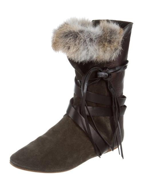 Nia Rabbit Fur Boots