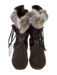 Nia Rabbit Fur Boots image 3
