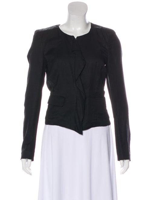 Isabel Marant Linen Collarless Blazer Black