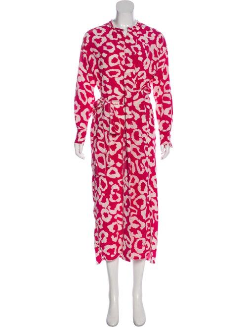 Isabel Marant Printed Maxi Dress Magenta