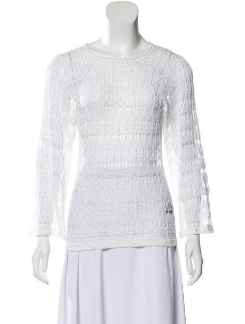 Isabel Marant Linen Lace Sweater White