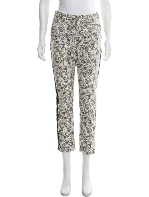 Isabel Marant Printed Mid-Rise Jeans multicolor