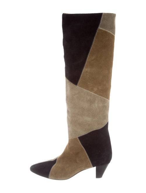Isabel Marant Patchwork Knee-High Boots Tan