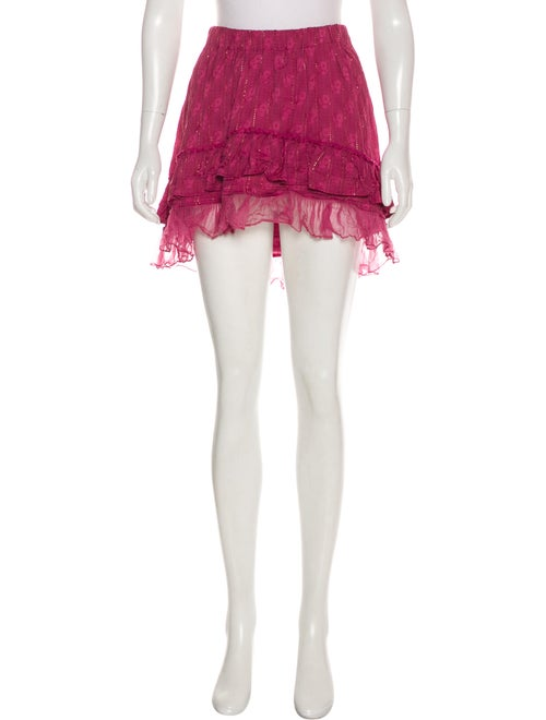 Isabel Marant Metallic Mini Skirt Magenta