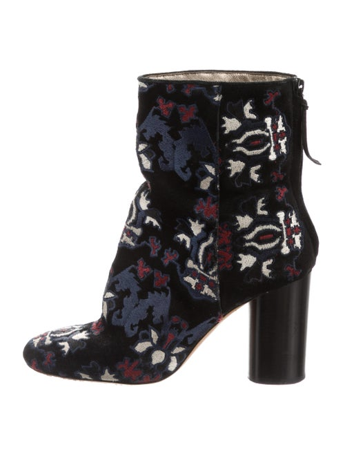 Isabel Marant Embroidered Ankle Boots Black
