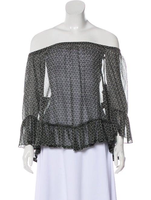 Isabel Marant Silk Printed Blouse Grey