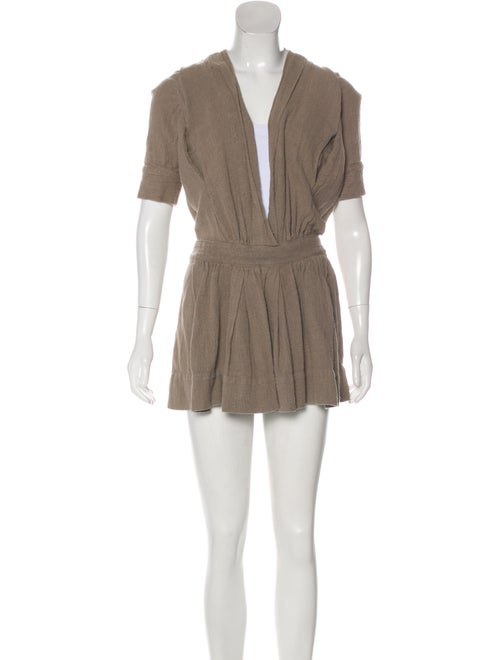 Isabel Marant Hooded Mini Dress Beige