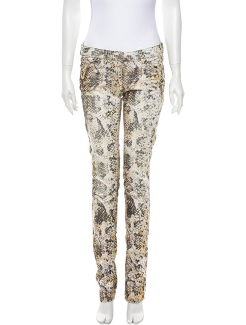 Isabel Marant Animal Print Straight Leg Pants - image 1