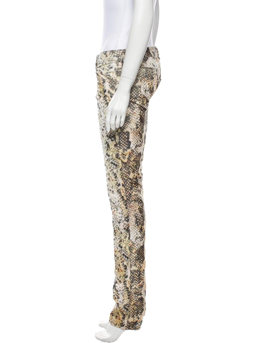 Isabel Marant Animal Print Straight Leg Pants - image 2