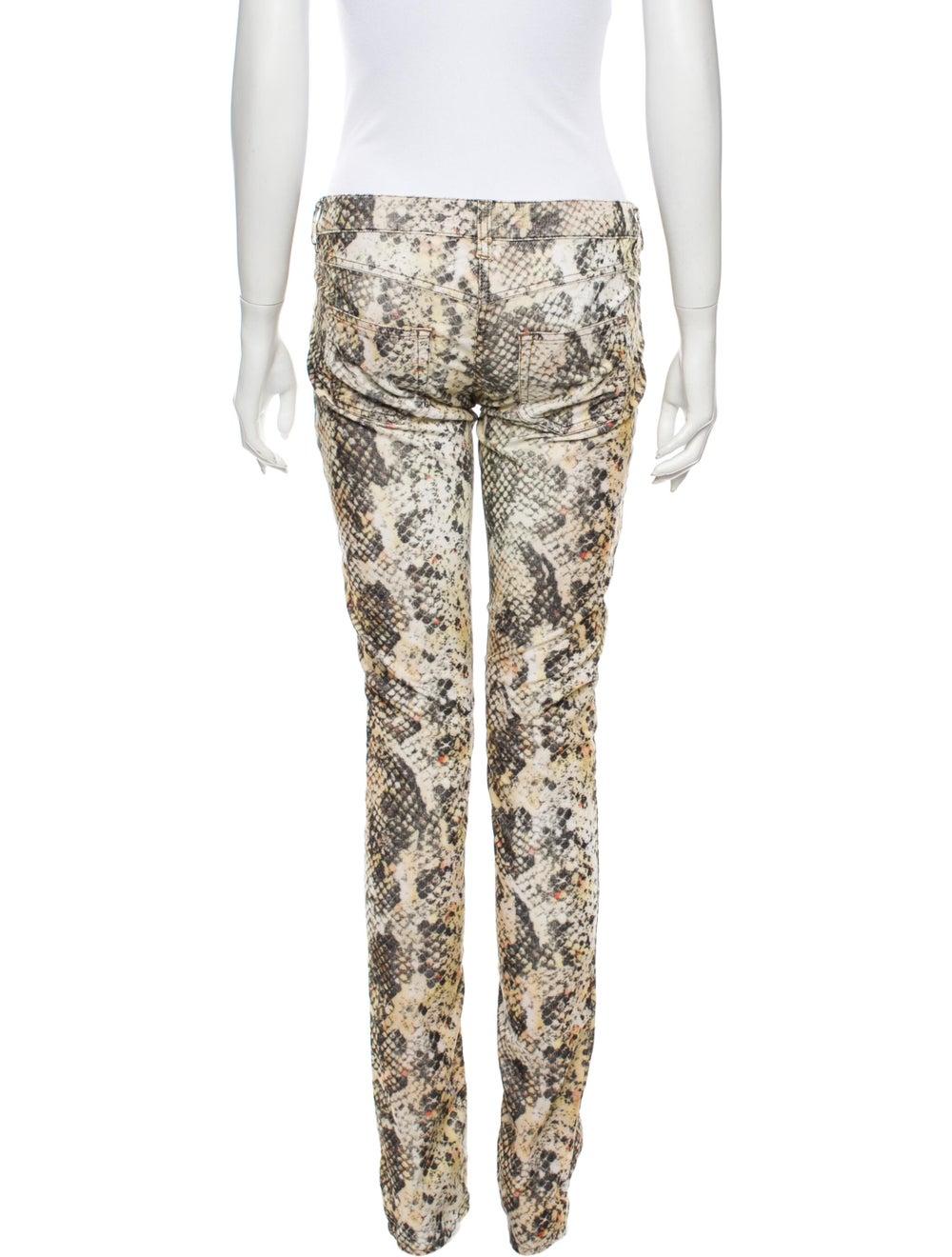 Isabel Marant Animal Print Straight Leg Pants - image 3
