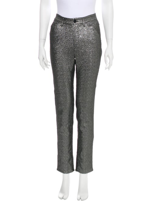 Isabel Marant Mid-Rise Straight Leg Jeans Silver