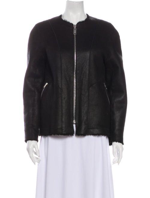 Isabel Marant Shearling Jacket Black