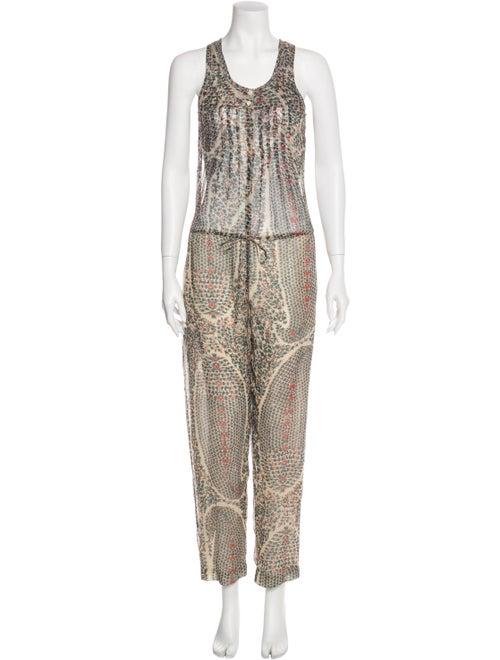 Isabel Marant Silk Printed Jumpsuit