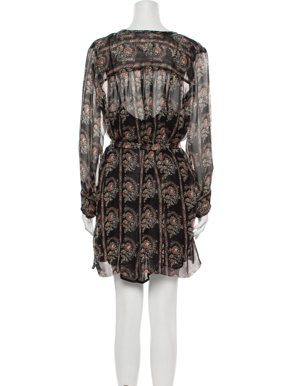 Isabel Marant Paisley Print Mini Dress Black - image 3
