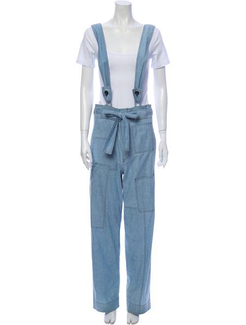 Isabel Marant Square Neckline Jumpsuit Blue