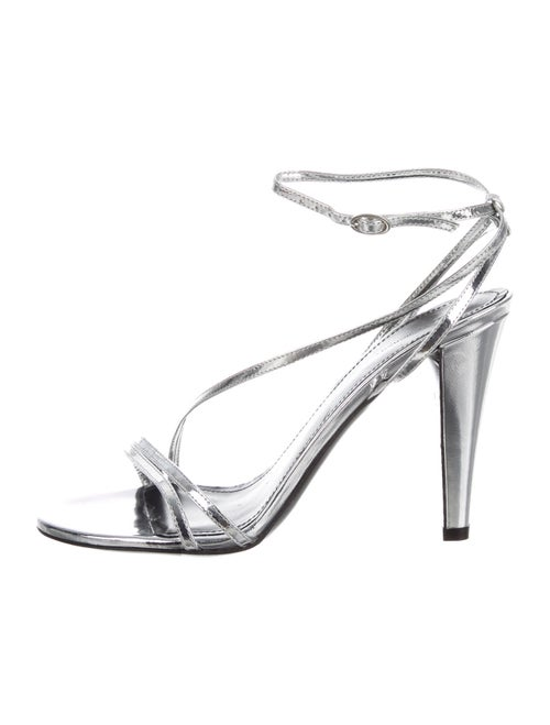 Isabel Marant Leather Sandals Silver