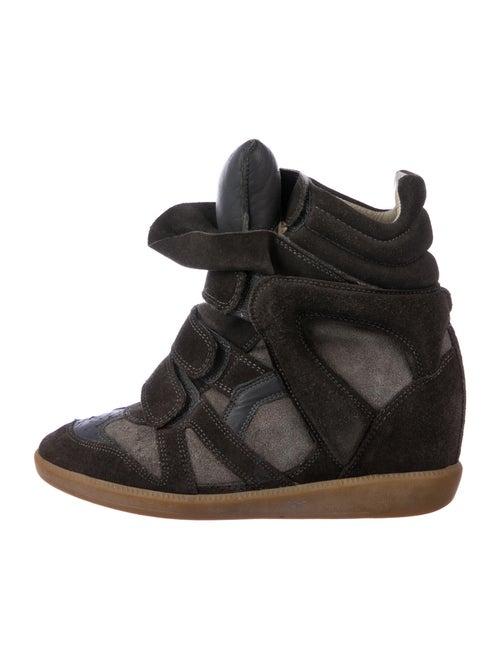 Isabel Marant Beckett Wedge Wedge Sneakers Grey