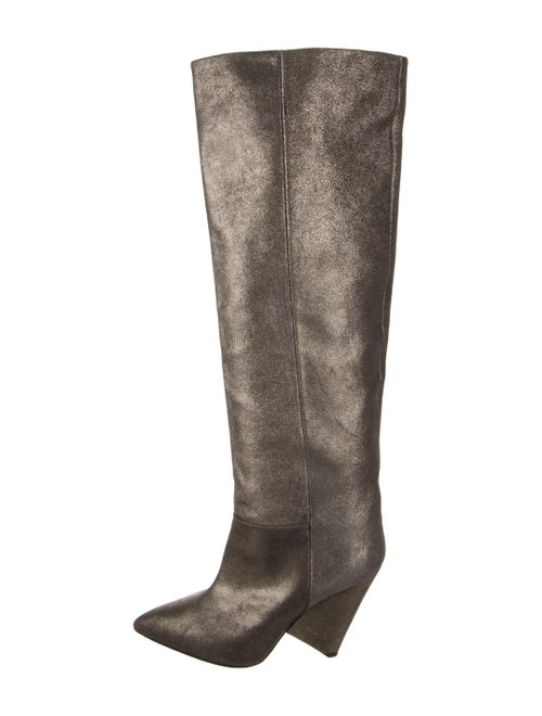 Isabel Marant Leather Boots Silver