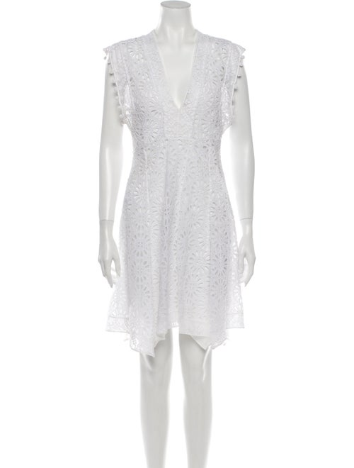 Isabel Marant Lace Pattern Knee-Length Dress White