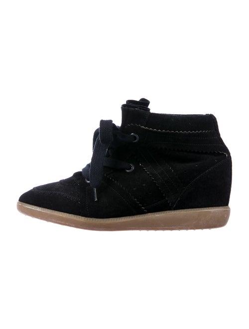Isabel Marant Suede Wedge Sneakers Black